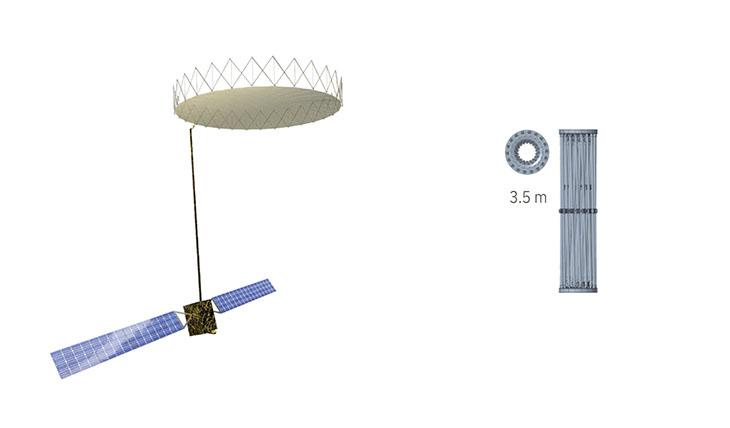 3.5m Ka-Band Perimeter Truss Reflector image